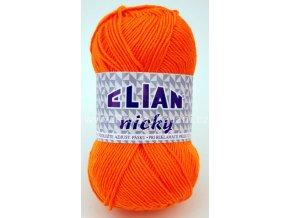 příze Elian Nicky 5074 sytě oranžová
