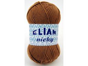 příze Elian Nicky 5166 světle hnědá