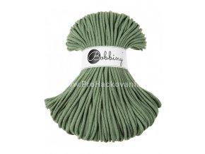 Bobbiny šňůry, 100% bavlna - zelený eukalyptus