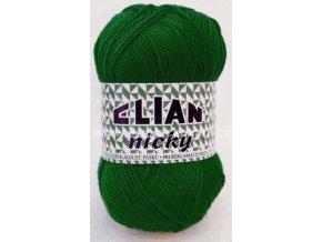 příze Elian Nicky 10026 zelená