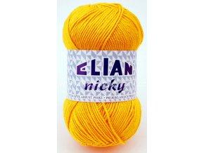 příze Elian Nicky 10333 žlutá
