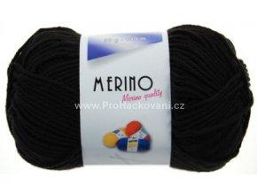 Příze Merino 14702 černá