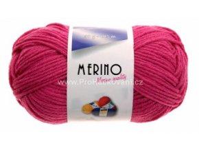 příze Merino 14718 tmavě růžová