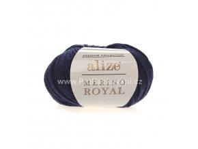 příze Merino Royal 058 tmavě modrá
