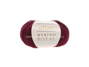 příze Merino Royal 323 bordo