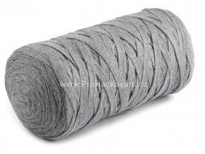Ribbon Yarn Art světle šedý melír