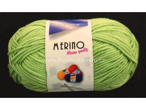 příze Merino 14744 světle zelená