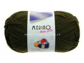 příze Merino 14745 vojenská zelená