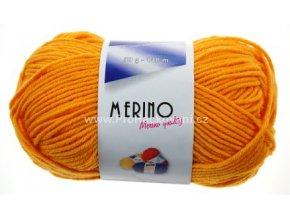 příze Merino 14771 oranžovožlutá
