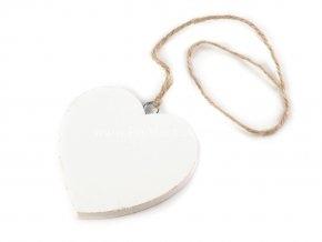 Dekorace, dřevěné srdce Ø 7cm