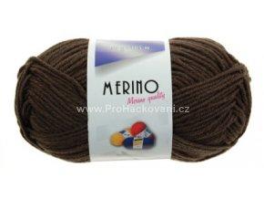 příze Merino 14782 tmavě hnědá