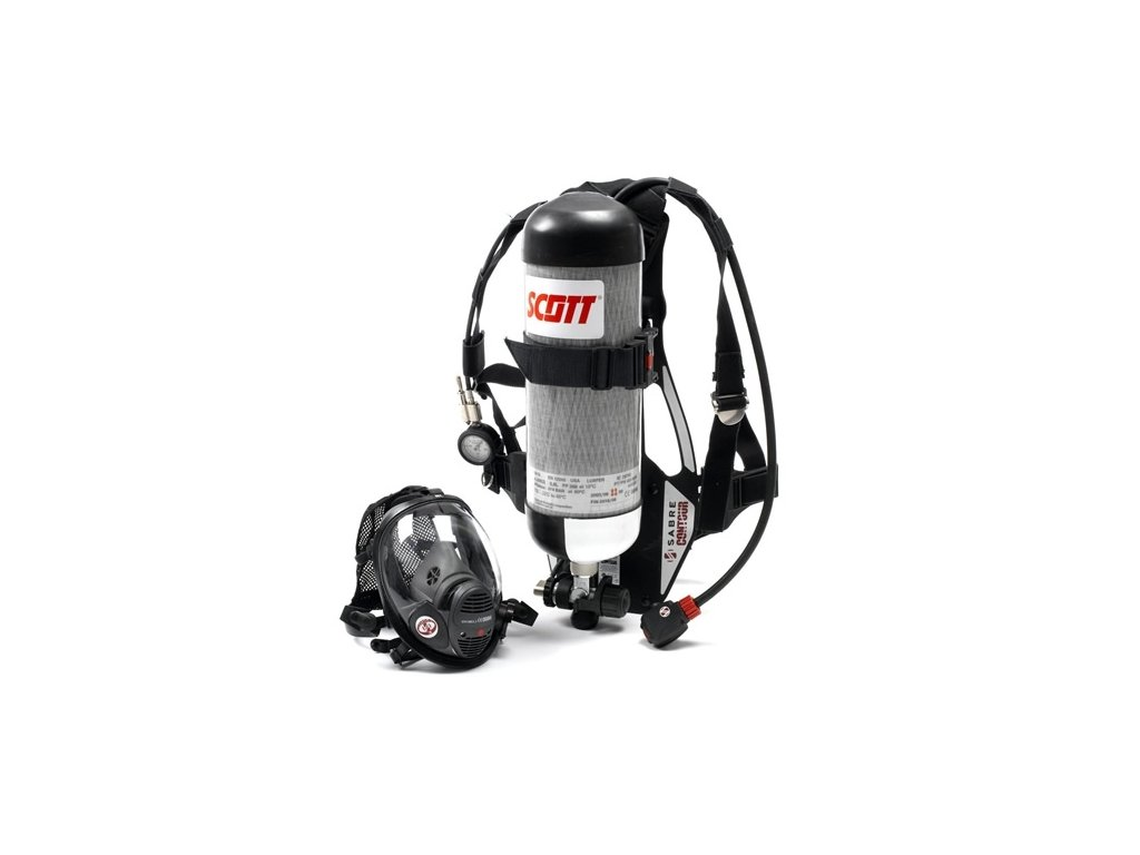 0012454 45 min self contained breathing apparatus with composite cylinder positive pressure full face mask a