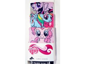 3 pack ponožky motiv My little Pony