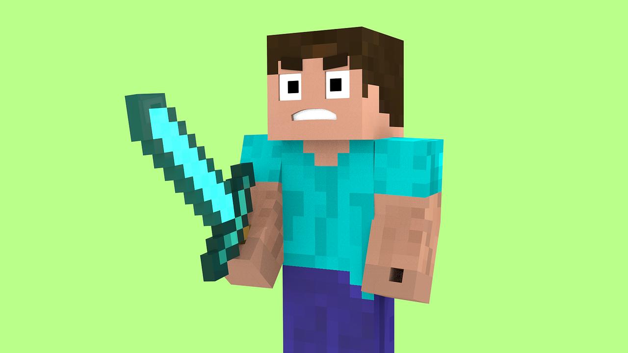 Hra Minecraft postavička Steva