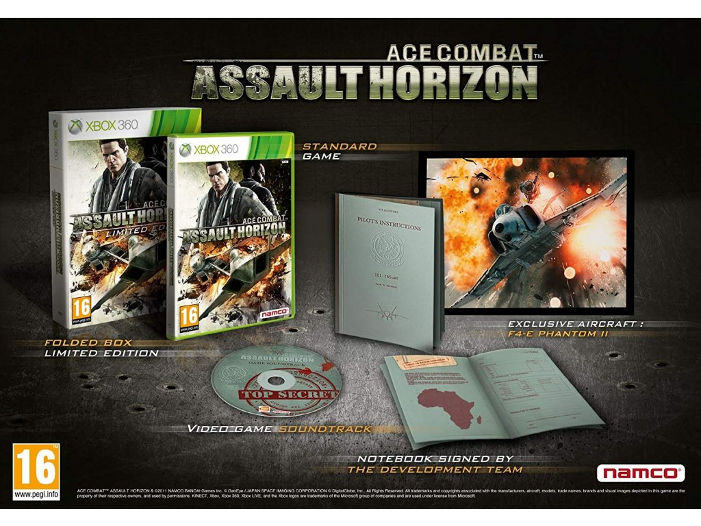 X360 Ace Combat Assault Horizon Limited Edition