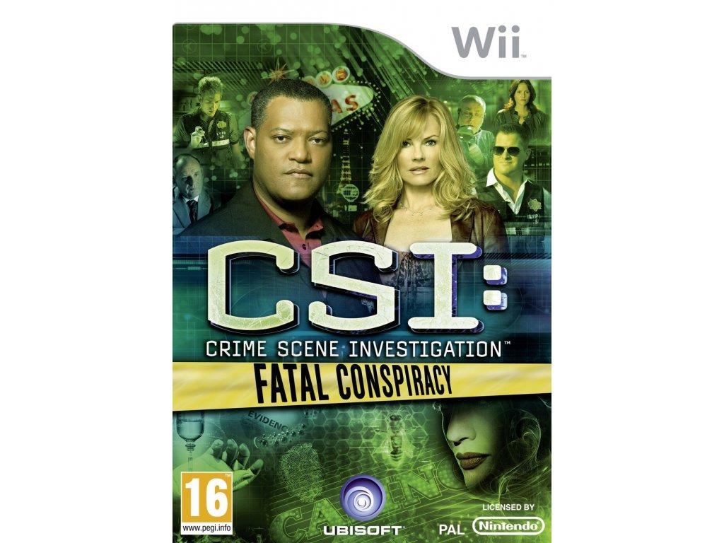 Wii CSI Fatal Conspiracy
