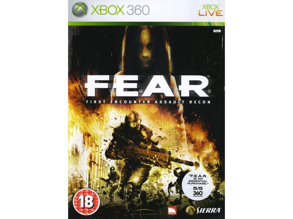 79030 f e a r first encounter assault recon xbox 360 front cover