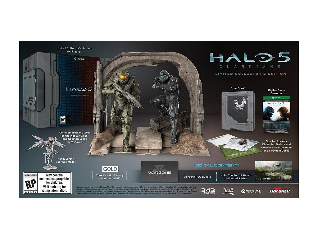 XONE HALO 5 Guardians Collectors Edition N