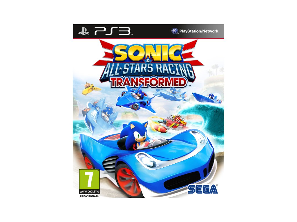 PS3 Sonic and All Stars Racing Transformed