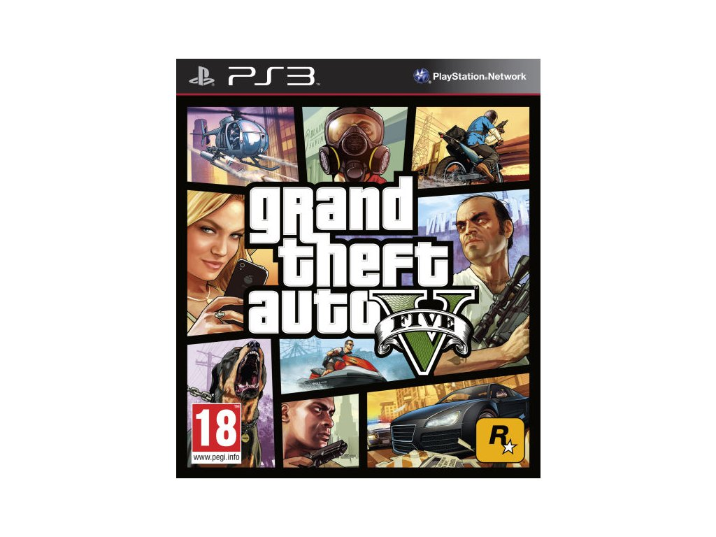 PS3 Grand Theft Auto V (GTA 5) Nové