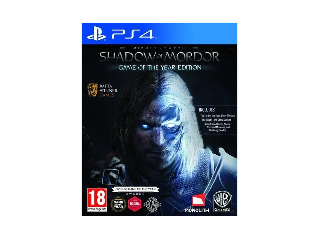 PS4 Middle Earth Shadow of Mordor GOTY Edition