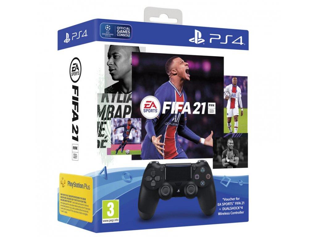 Sony Dualshock 4 Black V2 FIFA 21 CZ