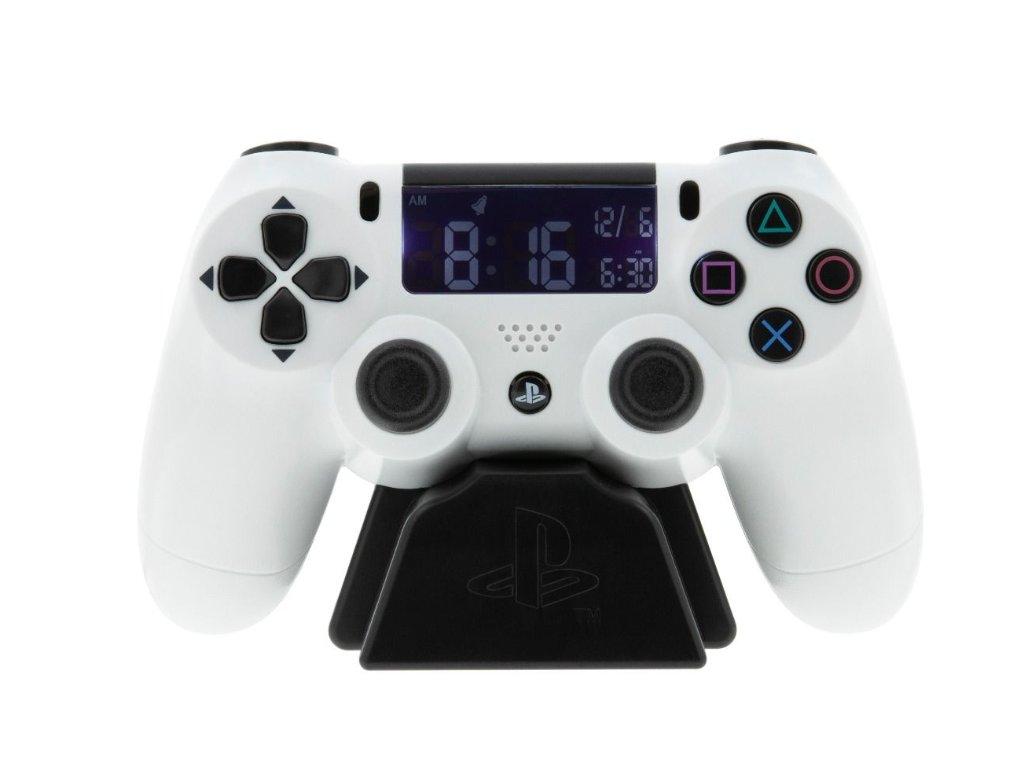 Merch Hodiny Budík Playstation Dualshock White