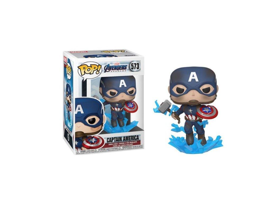 Merch Funko Pop! 573 Marvel Avengers Endgame Captain America With Broken Shield and Mjolnir