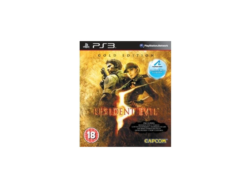 resident evil 5 gold edition move compatible ps3 pouzite