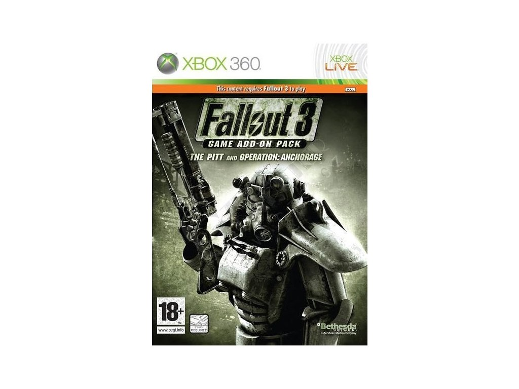 X360 Fallout 3 The Pitt and Operation Anchorage