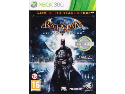 batman arkham asylum game of the year edition x360 pouzite