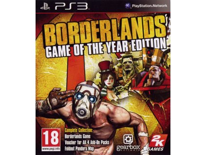 205598 borderlands game of the year edition playstation 3 front cover