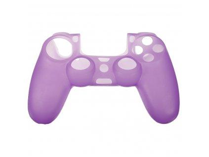 PS4 silikonový obal na ovladač fialový