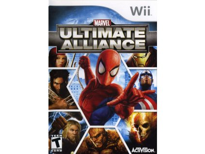 83465 marvel ultimate alliance wii front cover