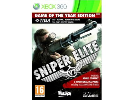 sniper elite v2 game of the year edition x360