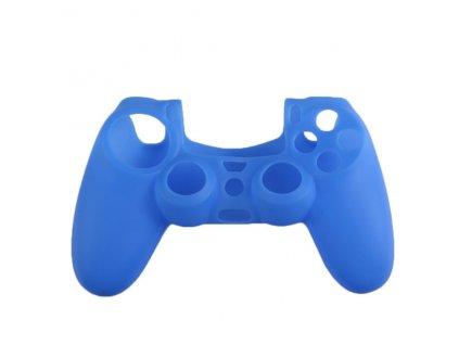 PS4 silikonový obal na ovladač modrý