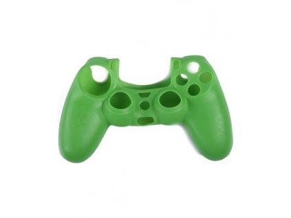 PS4 silikonový obal na ovladač zelený