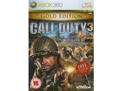 X360 Call of Duty 3 Gold Edition