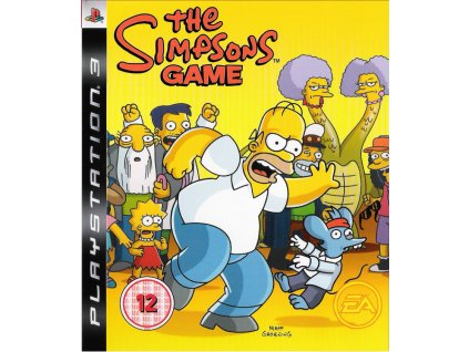 106227 the simpsons game playstation 3 front cover