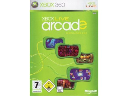 xbox live arcade compilation disc x360 pouzite
