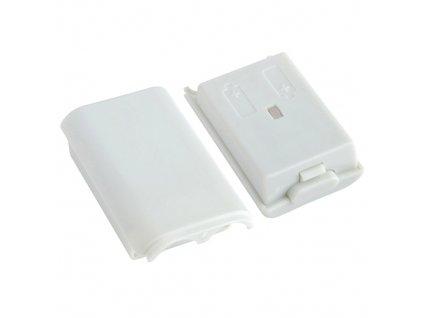 X360 bílý kryt na baterii k Xbox 360 Wireless Controller