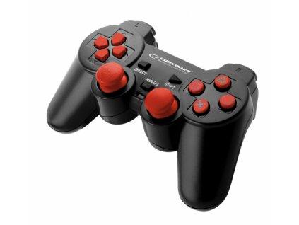 PS3/PS2 ovladač drátový EGG106R CORSAIR BLACK/RED Nové
