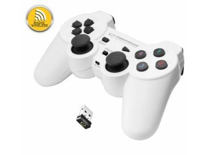 PS3 ovladač bezdrátový EGG108W GLADIATOR WHITE Nové