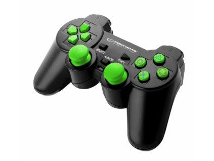 PS3/PS2 ovladač drátový EGG106G CORSAIR BLACK/GREEN Nové