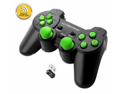 PS3 ovladač bezdrátový EGG108G GLADIATOR BLACK/GREEN Nové