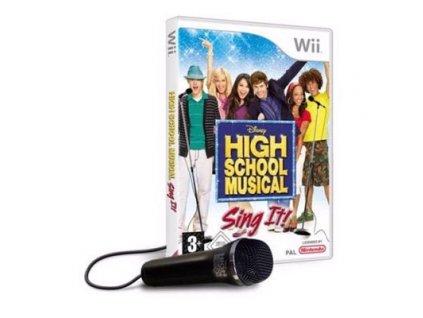 disney high school musical sing it with microphone nintendo wii video spele 1