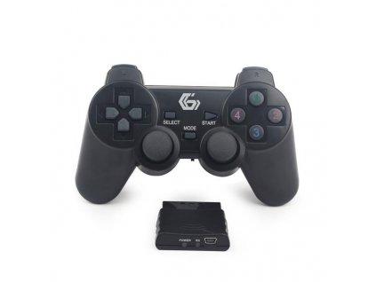 PS3/PS2 ovladač bezdrátový JPD-WDV-01 BLACK
