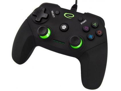 PS3 ovladač drátový EGG110K VANQUISHER BLACK Nové