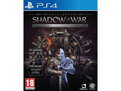 PS4 Middle Earth Shadow of War Silver Edition Steelbook