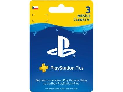 PlayStation Plus 3 měsíční členství